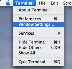 Terminal menu