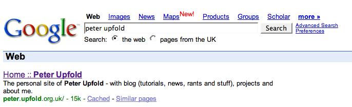 Google new URL
