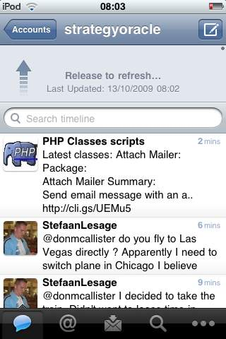Tweetie 2 screenshot — showing Timeline view