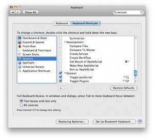 System Preferences Keyboard Shortcuts