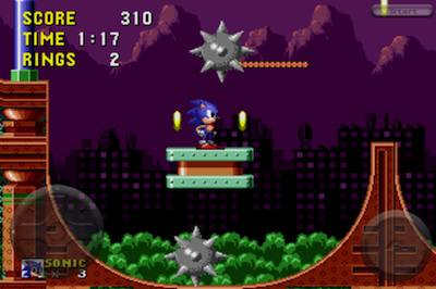 Screenshot of Spring Yard Zone on Sonic 1