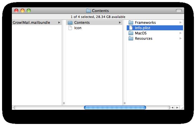Contents of GrowlMail.bundle