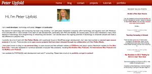 The new site design screenshot