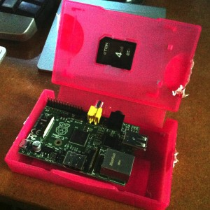 Raspberry Pi in box
