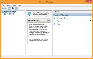 Screenshot of the Hyper-V Manager on Windows 8
