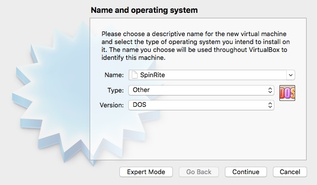 Creating a new VirtualBox SpinRite VM